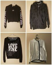 Victorias Secret Pink lot of 4 1 sweatshirt jacket and 3 hoodies Sz Small