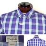 J Crew Mens Tailored Long Sleeve Dress Shirt Check Plaid Purple Cotton Large