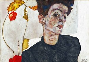 Egon Schiele - Large A2 size Abstract Canvas Wall Art Print Poster Unframed