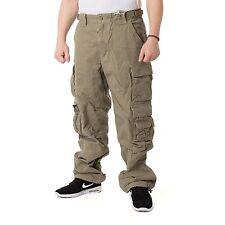 JET LAG 007 Cemento Pantalón Loose Fit hombre pantalón Cargo, cemento, 15417
