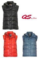 QS by s.Oliver Herren Weste Jacke | Armlos Kapuze Reißverschluss Seitentaschen