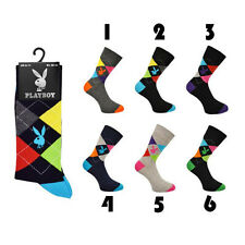 NEW Mens, Gents Playboy Branded Socks Argyle Style,Cotton Rich,1 Pairs Size 6-11