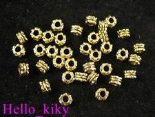 300pcs Antiqued Gold Plt Ornate Tube Spacer Beads A288