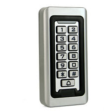 Waterproof IP68 Keypad Standalone Access Control Home Door Entry Controller 12V