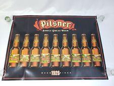 Rare Vintage Old Style Pilsner Beer Poster Bottle Timeline Since 1926 19x27