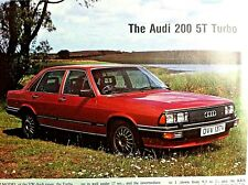 AUDI 200 5T TURBO  - 1980 - Road Test removed from Motor Sport