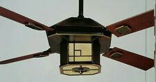 "Casablanca Frank Lloyd Wright inspired fan P4M55H ""Bungalow"" with remote"