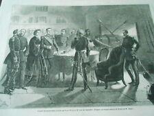 Gravure 1861 - Conseil de Guerre tenu à Gaëte par le Roi Francois II