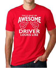 THIS IS WHAT AN AWESOME DRIVER LOOKS LIKE funny race car gift mechanic T-Shirt