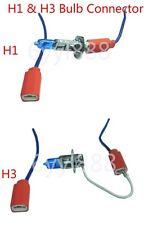 2Pcs H1 H3 universal Ceramic Headlight Bulb Connector Plug Socket Harness 12V24V
