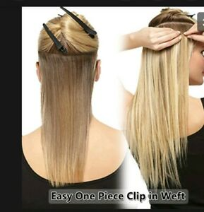Clip_ in hair extensions straight L23 W10