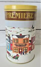 "Vintage Premier Candy Company Tin Milk Chocolate Cordial Cherries  7.75"" Winter"