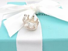 TIFFANY & CO SILVER PRINCESS CROWN CHARM PENDANT POUCH INCLUDED