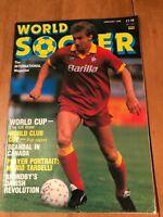 WORLD SOCCER MAGAZINE (JAN 1988) - MARIO TARDELLI