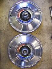 "1966 CHRYSLER 300 HUBCAPS WHEEL COVERS 14"" PAIR"