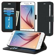 RooCase Prestige Folio Wallet Case + Stand and CC ID Holder for Galaxy S6
