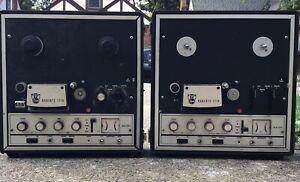 Vintage 2 Roberts Rheem 1719 Reel to Reel Tape Recorder Player Parts or Repair