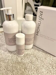 NEW Monuspa Gift Set RRP £47 -Rosewood&Honey Body Wash,Bath Salts Body Oil Xmas