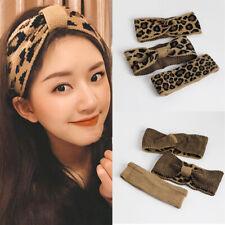 Fashion Knitted Headband Bowknot Turban Crochet Head wrap Leopard Headwear