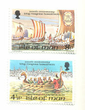 The Vikings-King Magnus and Viking ships (2)mnh Isle of Man