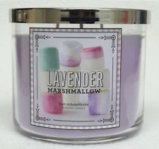1 Bath & Body Works Lavender Marshmallow 3-Wick Candle 14.5 oz