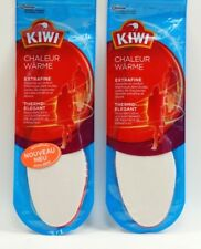 2x KIWI WARM Gr. 42 / 43 Einlegesohlen NEU Extrafine Dünn Wärme Thermo-Elegant