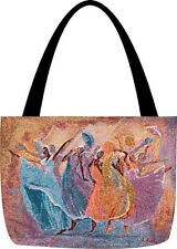 Tribute ~ African American Ladies in Dance Tapestry Tote Bag ~ by Laverne Ross