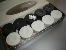 backgammon pieces backgammon chips + 2 of dice ,large size 35mm