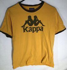 VTG Kappa Yellow / Brown T Shirt Size Mens L/M