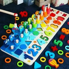 Montessori Educational Wooden Toys For Children Kids Busy Board Math Preschool✅