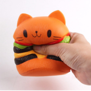 Toy Stress Cat Burger Relief Slow Rising Simulation Scented Squeeze Food Jumbo
