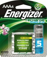 BRAND NEW ENERGIZER AAA Rechargeable NiMH Batteries 4 Pack 800 mAh