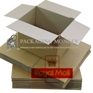 VARIETY OF ROYAL MAIL SMALL PARCEL SIZE POSTAL CARDBOARD BOXES WRAPS *ALL SIZES*