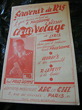 Partition Souvenir de Ris Prud'Homme Besson Heart Fickle Lyris Music Sheet