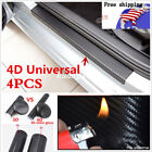Universal Parts Accessories Sticker Carbon Fiber Car Door Plate Sill Scuff Cover