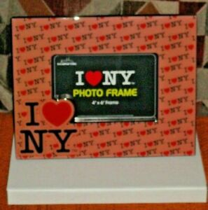 New York Picture Frame I Love NY 4 x 6 , New, Picture Frame