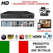 DVR 4 CANALI AHD IP CON CLOUD VIDEOSORVEGLIANZA IBRIDO VIDEOREGISTRATORE