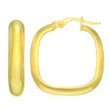 14K Gelbgold Quadrat Creolen, Durchmesser 22mm