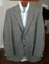 EUC vtg IZOD LACOSTE mens (Harris) TWEED Blazer Jacket ELBOW PATCHES 38R Vintage