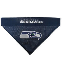 Seattle Seahawks NFL Licensed Pets First Dog Pet Reversible Bandana 2 Sizes