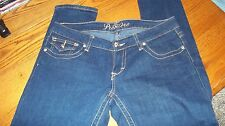 Rue 21 Premiere Jeans Dark Denim with Zebra Print Pockets Junior Size 5/6 NWOT