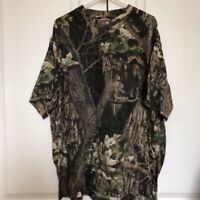 Mossy Oak Camo Classic Mens T-Shirt Green Brown Cotton Poly Camouflage 2XL 50-52