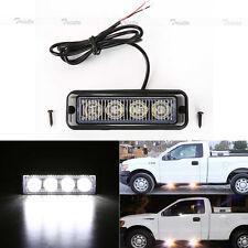 4 LED White Bright Car Truck Emergency Beacon Light Hazard Strobe Warning #Y2