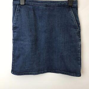 Blue Denim Short Skirt  Size UK 10 Length 18'' Warehouse