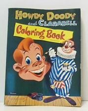 Vintage 1955 Howdy Doody and Clarabell authorized whitman coloring book clown