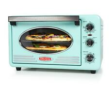 Nostalgia Large-Capacity 0.7-Cu. Ft. Capacity Retro Convection Toaster Oven Aqua