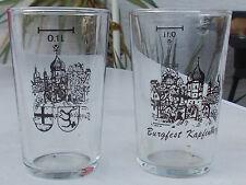 1 Burgfest Kapfenburg Probierglas 0,1L aus Lauchheim mit Wappen und oberes Tor