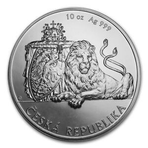 10 OZ CZECH  LION -   Silver coin First year issue!  2018  Niue  OGP