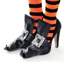 Halloween Witch Shoe Covers with Cloth Buckle Fancy Dress Costum Accessory