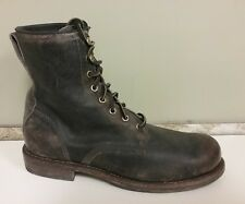 FRYE - 87303 - WAYDE -Men's Highly Distressed Brown Leather Combat Boots -Size 8